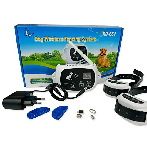 new product outdoor pet supplies electronic dog yard 100 levels wireless fence system with shock rechargeble